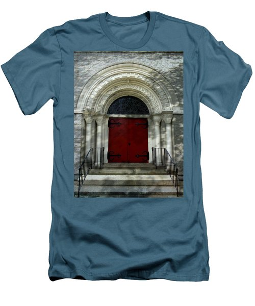 Men's T-Shirt (Slim Fit) featuring the photograph Winchester Church by Joseph Skompski
