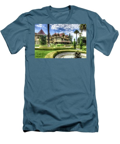 Winchester Mystery House Men's T-Shirt (Slim Fit) by Jim Thompson
