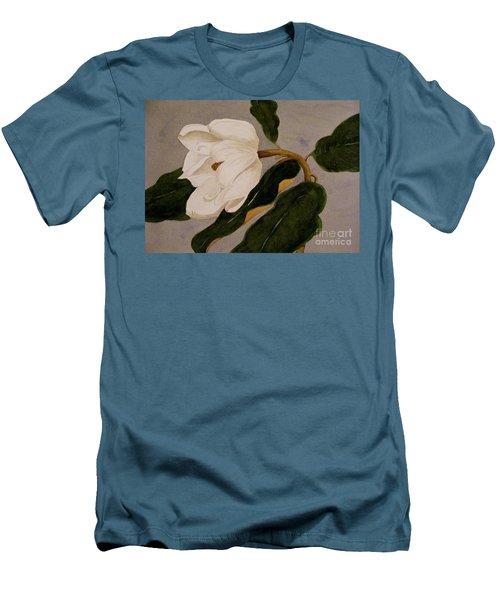 Windblown Magnolia Men's T-Shirt (Slim Fit) by Nancy Kane Chapman