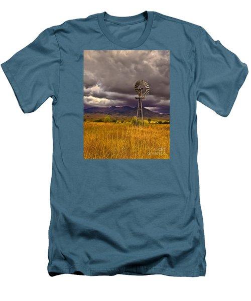 Windmill Men's T-Shirt (Slim Fit) by Robert Bales