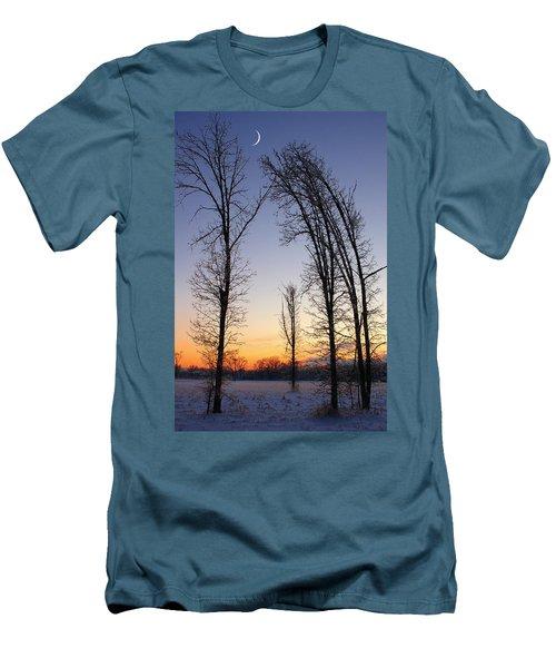 Winter At Dusk Men's T-Shirt (Athletic Fit)