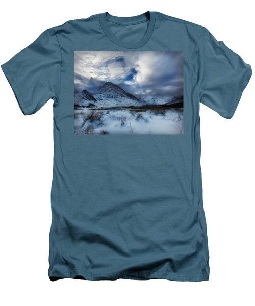 Winter At Tryfan Men's T-Shirt (Slim Fit) by Beverly Cash