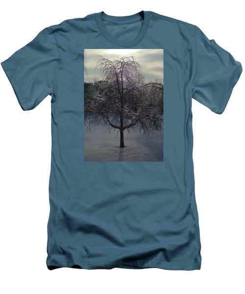 Winter Candelabrum Men's T-Shirt (Slim Fit) by Henryk Gorecki