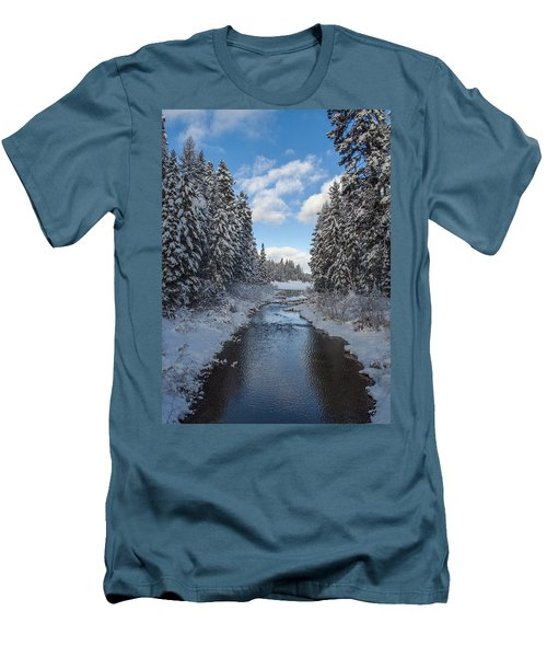 Winter Creek Men's T-Shirt (Slim Fit) by Fran Riley