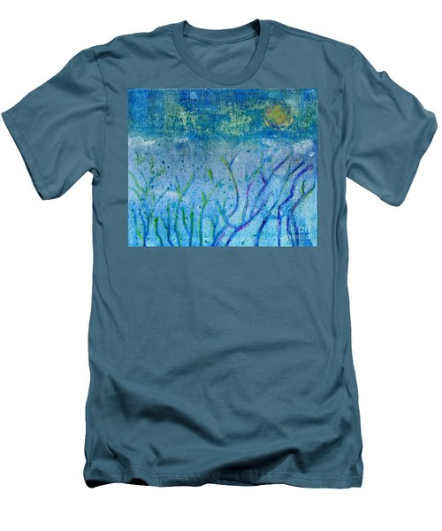 Winter Forest In Moonlight Men's T-Shirt (Athletic Fit)