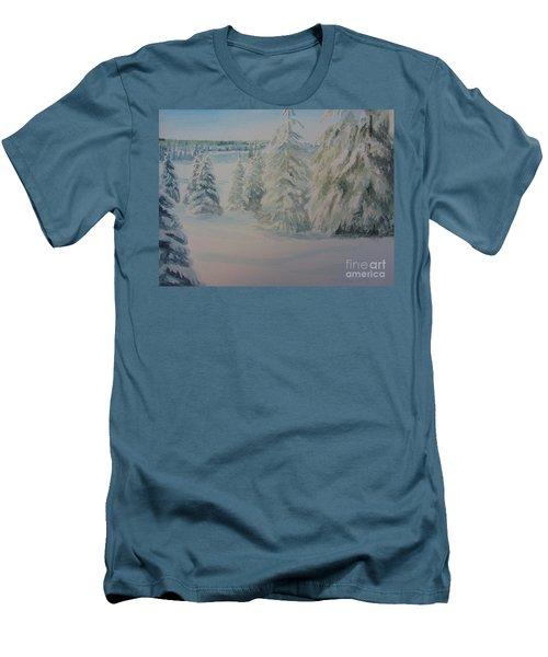 Winter In Gyllbergen Men's T-Shirt (Slim Fit) by Martin Howard