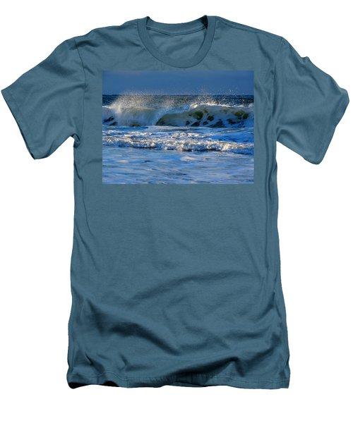 Winter Ocean At Nauset Light Beach Men's T-Shirt (Slim Fit) by Dianne Cowen