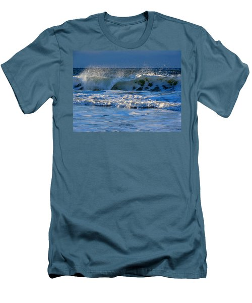 Winter Ocean At Nauset Light Beach Men's T-Shirt (Athletic Fit)