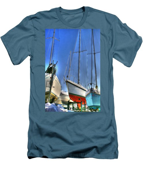Winter Shipyard Men's T-Shirt (Athletic Fit)
