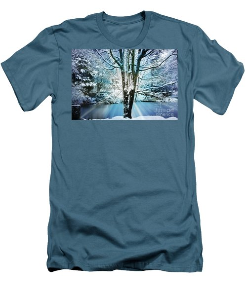 Men's T-Shirt (Slim Fit) featuring the photograph Winter Wonderland by Judy Palkimas