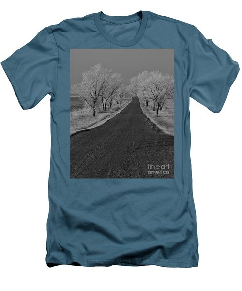 A Rural Winter's Road Men's T-Shirt (Athletic Fit)