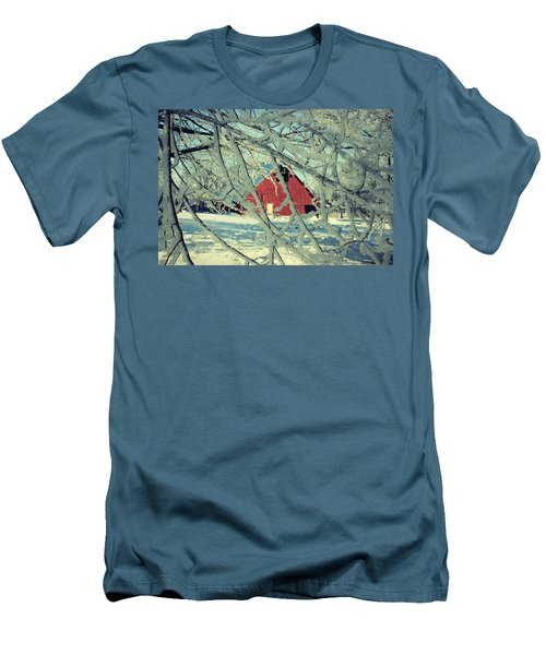 Our Frosty Barn Men's T-Shirt (Slim Fit) by Julie Hamilton