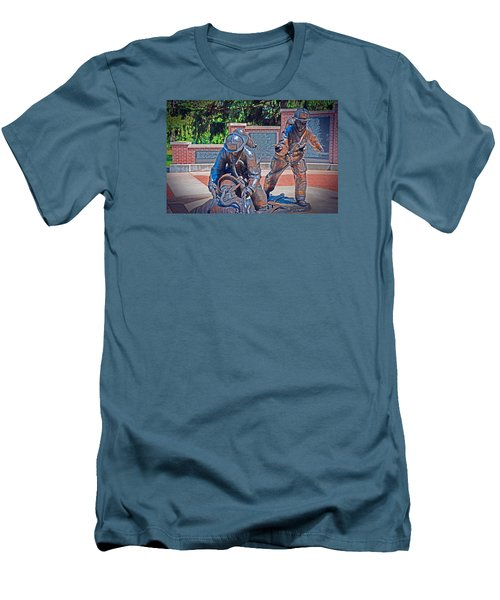 Men's T-Shirt (Slim Fit) featuring the photograph Wisconsin State Firefighters Memorial Park 2 by Susan  McMenamin