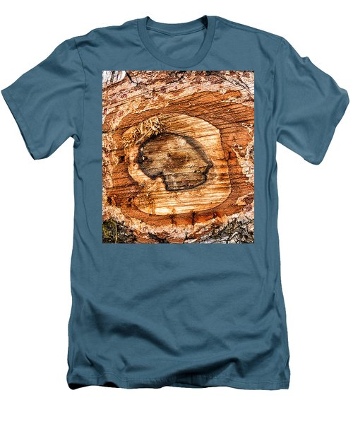Wood Detail Men's T-Shirt (Athletic Fit)