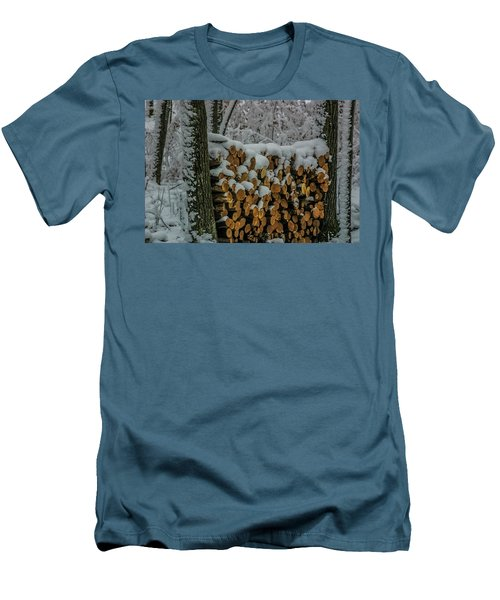 Wood Pile Men's T-Shirt (Athletic Fit)