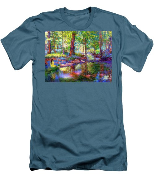 Men's T-Shirt (Slim Fit) featuring the painting Woodland Rapture by Jane Small