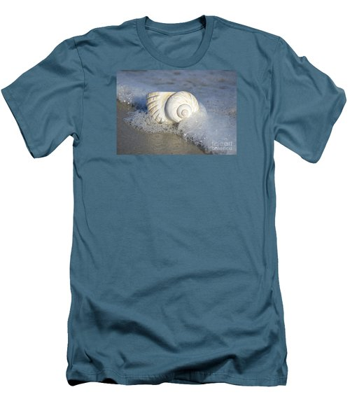 Men's T-Shirt (Slim Fit) featuring the photograph Worn By The Sea by Kathy Baccari