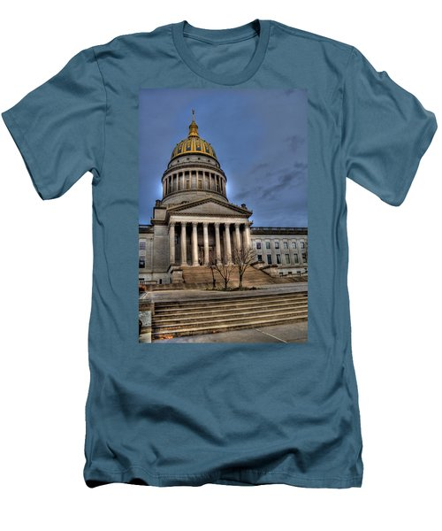 Wv Capital Building 2 Men's T-Shirt (Athletic Fit)