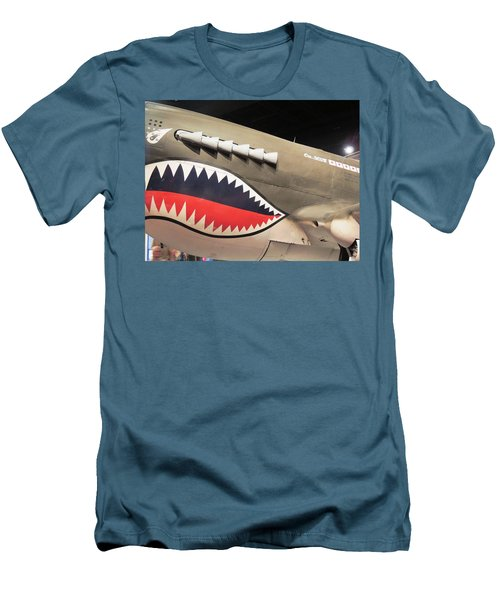 Wwii Shark Men's T-Shirt (Athletic Fit)
