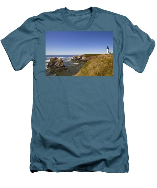 Yaquina Head Lighthouse 4 Men's T-Shirt (Athletic Fit)