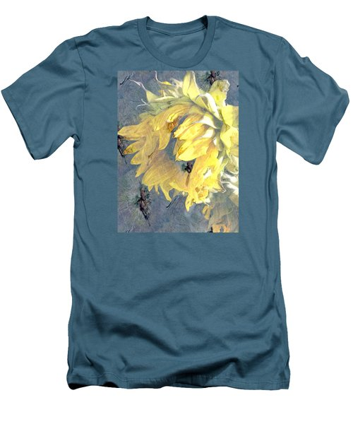 Yellow Fading Flower Men's T-Shirt (Athletic Fit)