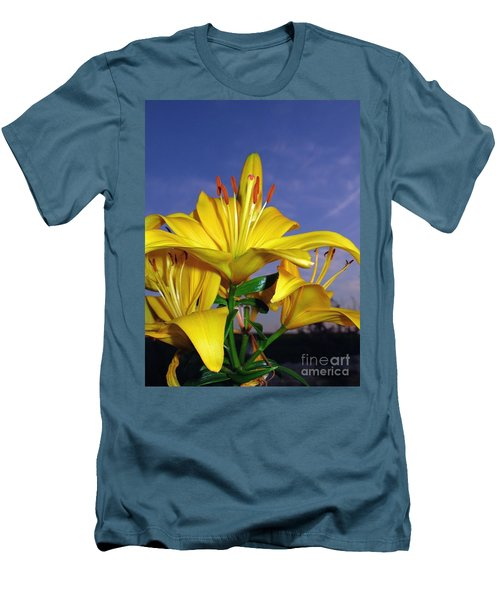 Yellow Spring  Men's T-Shirt (Athletic Fit)