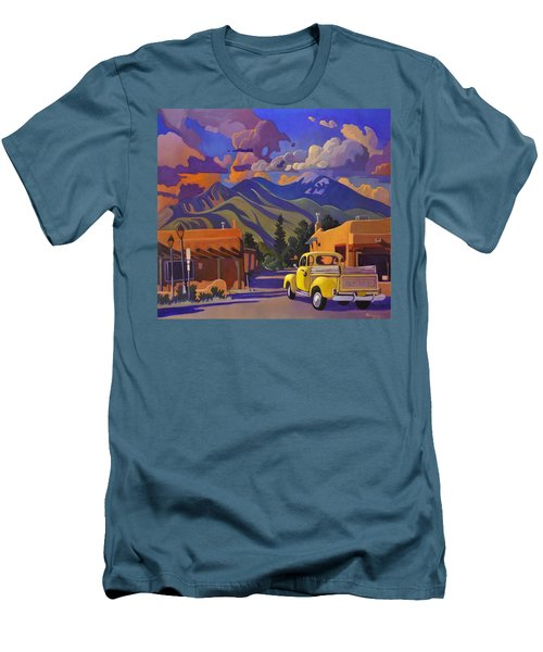 Men's T-Shirt (Slim Fit) featuring the painting Yellow Truck by Art James West