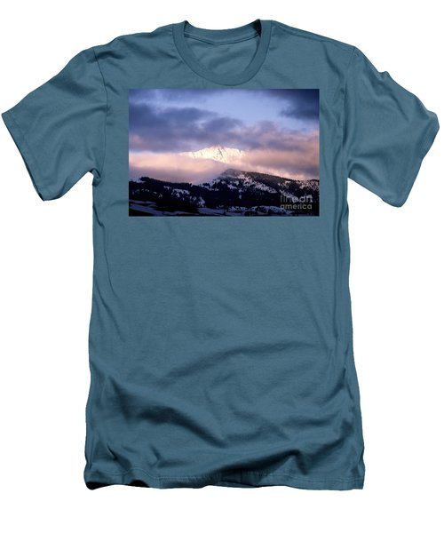 Men's T-Shirt (Slim Fit) featuring the photograph Yellowstone Morning by Sharon Elliott