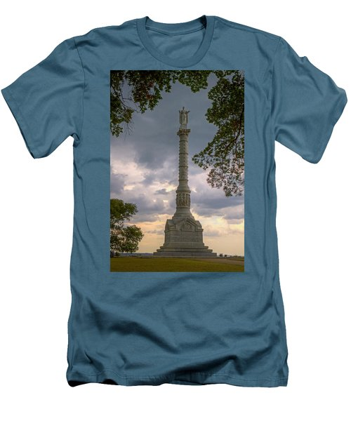 Yorktown Victory Monument Men's T-Shirt (Slim Fit) by Jerry Gammon