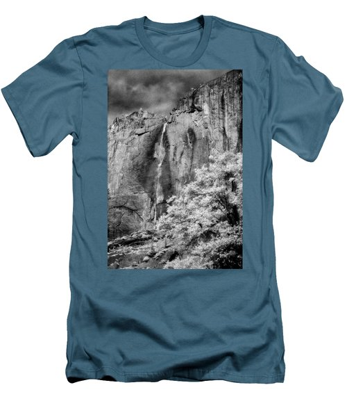 Men's T-Shirt (Slim Fit) featuring the photograph Yosemite Falls by Mark Greenberg