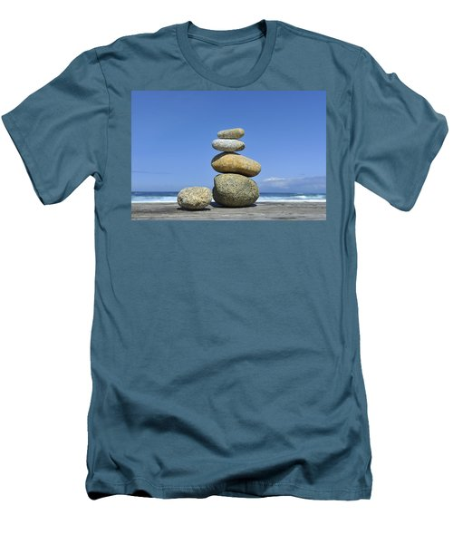 Zen Stones I Men's T-Shirt (Athletic Fit)
