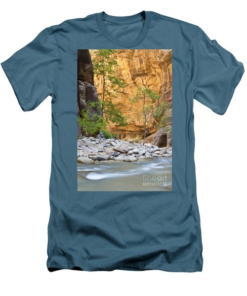 Men's T-Shirt (Slim Fit) featuring the photograph Zion Narrows by Bryan Keil