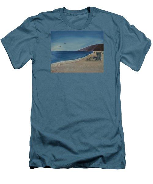 Zuma Lifeguard Tower Men's T-Shirt (Athletic Fit)