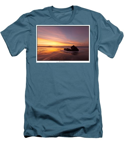 Men's T-Shirt (Slim Fit) featuring the photograph  Atomic Sunset by Beverly Cash