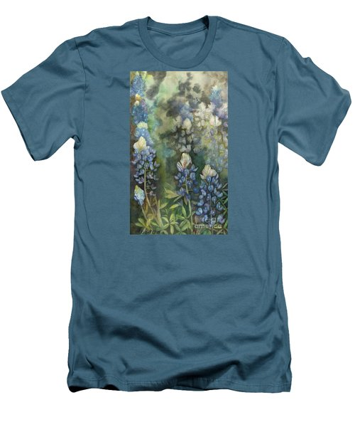 Bluebonnet Blessing Men's T-Shirt (Slim Fit) by Karen Kennedy Chatham