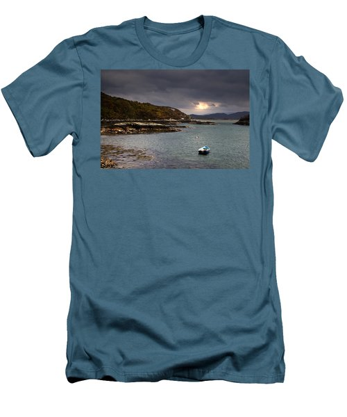 Boat In Water, Loch Sunart, Scotland Men's T-Shirt (Athletic Fit)