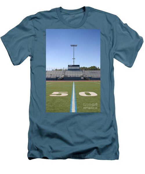 Men's T-Shirt (Slim Fit) featuring the photograph Football Field Fifty by Henrik Lehnerer