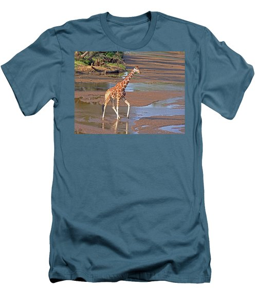 Reticulated Giraffe Men's T-Shirt (Athletic Fit)