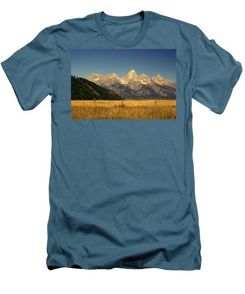Men's T-Shirt (Slim Fit) featuring the photograph Tetons 3 by Marty Koch