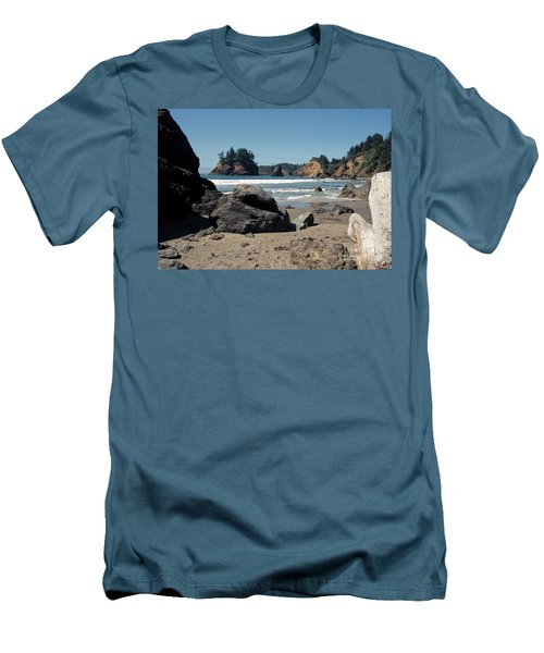 Men's T-Shirt (Slim Fit) featuring the photograph Trinidad Beach by Sharon Elliott