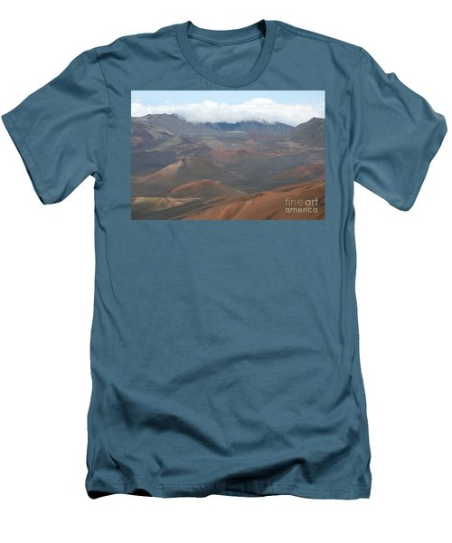 Haleakala Volcano Maui Hawaii Men's T-Shirt (Slim Fit) by Sharon Mau