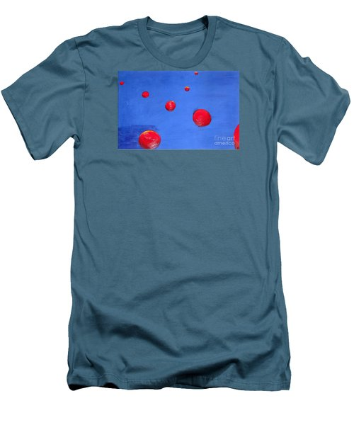 Men's T-Shirt (Athletic Fit) featuring the painting Orbs In Space 1 -- Crossing Paths by Rod Ismay