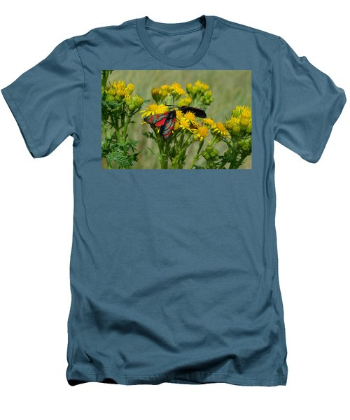Men's T-Shirt (Slim Fit) featuring the photograph 6 Spot Burnet by Barbara Walsh
