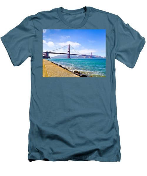 75 Years - Golden Gate - San Francisco Men's T-Shirt (Athletic Fit)