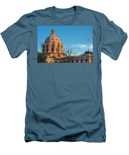 Men's T-Shirt (Slim Fit) featuring the photograph A Capitol Evening by Tom Gort