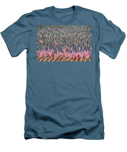 A Thousand Flags Men's T-Shirt (Slim Fit) by John Black