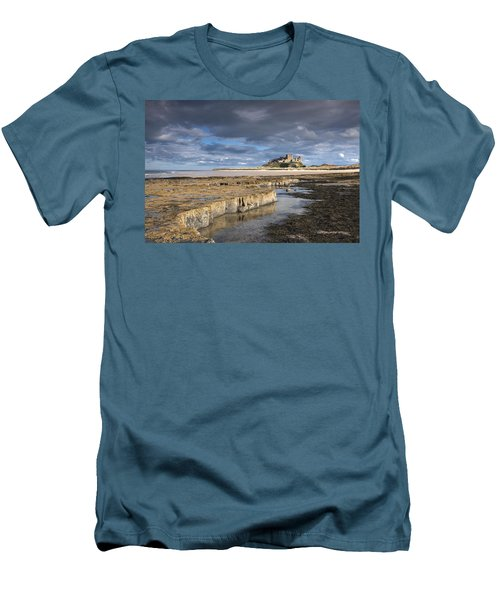 A View Of Bamburgh Castle Bamburgh Men's T-Shirt (Athletic Fit)