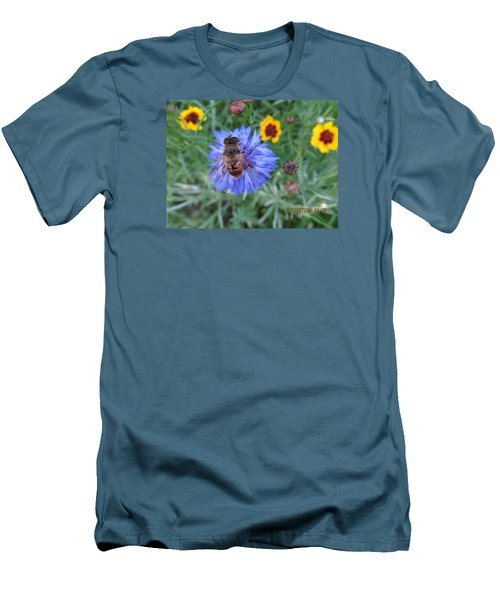 Men's T-Shirt (Slim Fit) featuring the photograph Afternoon Feeding by Tina M Wenger