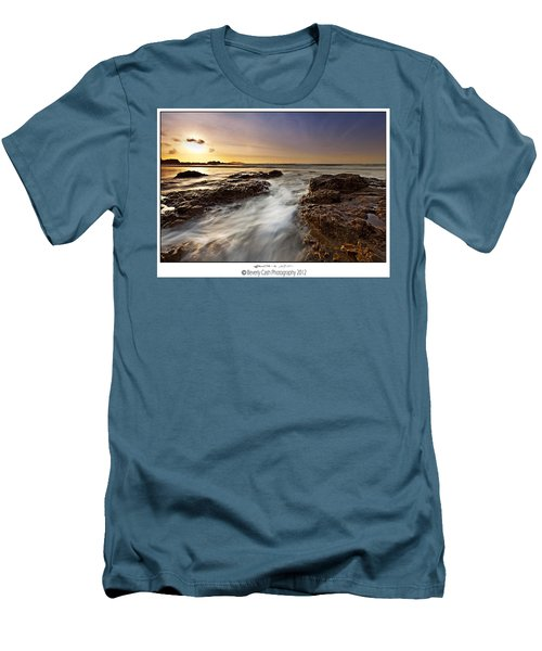 Men's T-Shirt (Slim Fit) featuring the photograph Afternoon Tide by Beverly Cash