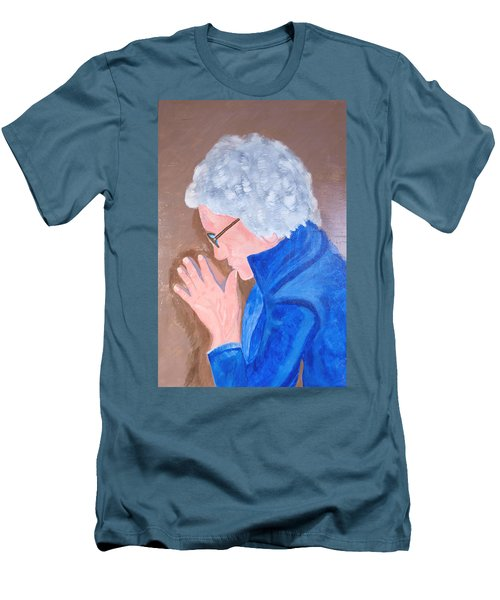 Men's T-Shirt (Slim Fit) featuring the painting All In The Mind by Lisa Brandel